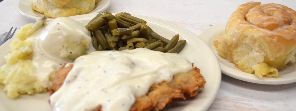 Ginger Brown's chicken fried steak a fort worth restaurant